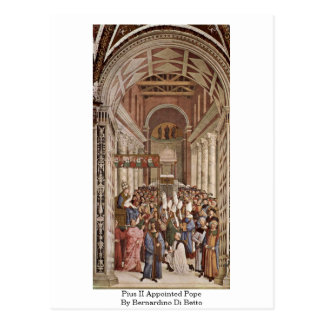 Pius Ii Appointed Pope By Bernardino Di Betto Postcard