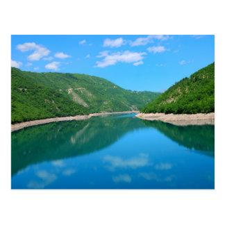 Piva lake in Montenegro Postcard