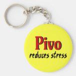 Pivo reduces stress key chain
