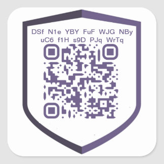 PIVX QR-Code Custom DIY Square Sticker
