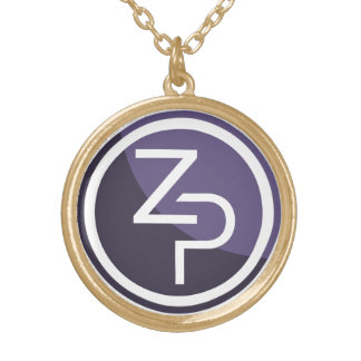 PIVX zPIV Round Necklace, Gold Finish Gold Plated Necklace