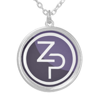 PIVX zPIV Round Necklace, Silver Plated Silver Plated Necklace