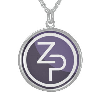 PIVX zPIV Round Necklace, Sterling Silver Sterling Silver Necklace