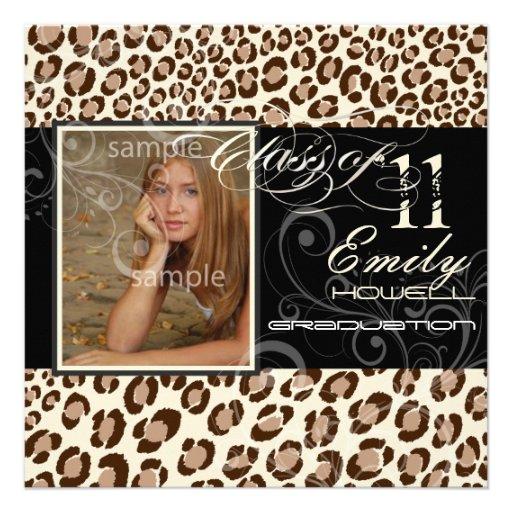 PixDezines 2012 Graduation, leopard Announcement