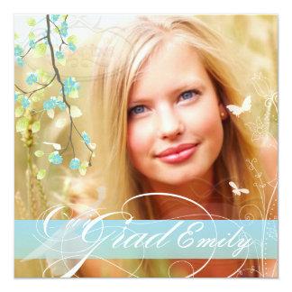 PixDezines 2015 Graduation Photo+diy blossoms 13 Cm X 13 Cm Square Invitation Card