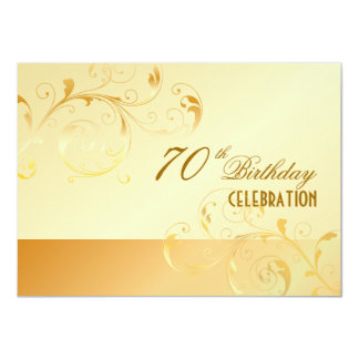 PixDezines 70 Birthday/filigree/DIY your event.. 11 Cm X 16 Cm Invitation Card