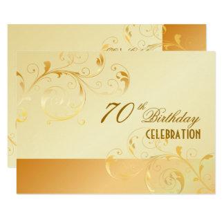 PixDezines 70 Birthday/Filigree Swirls/DIY Event Card
