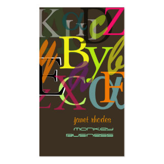 PixDezines ABC, Greek Alpha/DIY background color Business Card Template