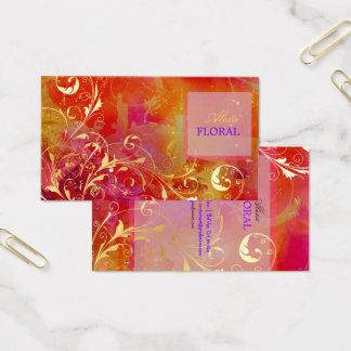 PixDezines abstract+filigree swirls Business Card