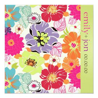 PixDezines alegre retro floral Card