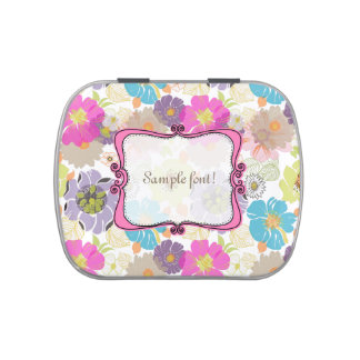 PixDezines alegre retro floral/wedding favors Candy Tin