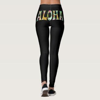 PixDezines ALOHA HAWAII/DIY Background Color Leggings