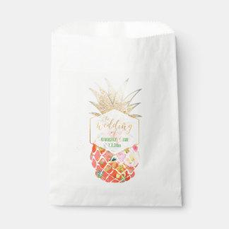 PixDezines Aloha Hawaiian Pineapple Favour Bag