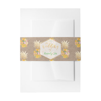 PixDezines Aloha Hawaiian Pineapples/DIY Invitation Belly Band