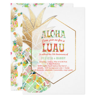 PixDezines Aloha Hawaiian Pineapples/Mint Green Card