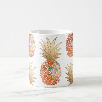PixDezines Aloha Pineapple+Faux Gold Coffee Mug