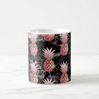 PixDezines Aloha Pineapple+Faux Rose Gold Coffee Mug
