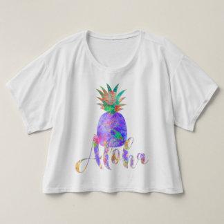 PixDezines Aloha Pineapple, Purple T-Shirt