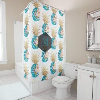 PixDezines Aloha Pineapples/Aqua/DIY background Shower Curtain