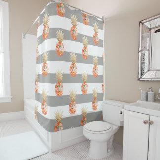 PixDezines Aloha Pineapples/DIY background Shower Curtain