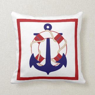 PixDezines anchors/lifesavers/nautical/diy color Cushion