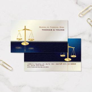 PixDezines ATTORNEY, NAVY+GREY PINSTRIPE Business Card