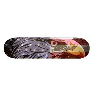 PixDezines bald eagle/american flag 20 Cm Skateboard Deck