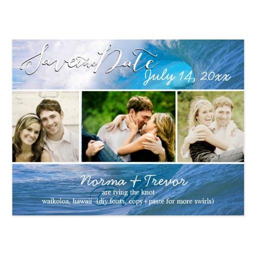 PixDezines banzai pipeline waves/save the date Postcards