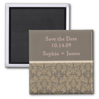 PixDezines baroque damask, diy save the date Magnet