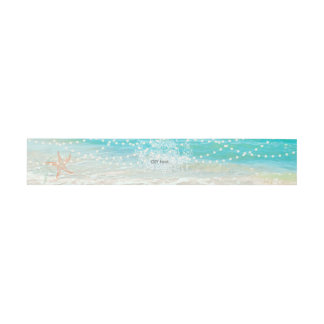 PixDezines Beach/Chadelier/Starfish Invitation Belly Band