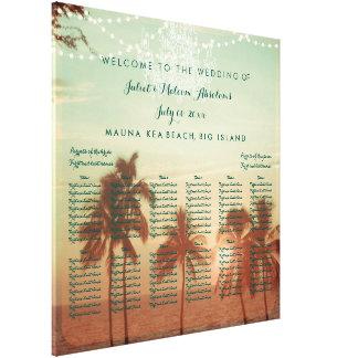 PixDezines beach/wedding seating chart Stretched Canvas Prints