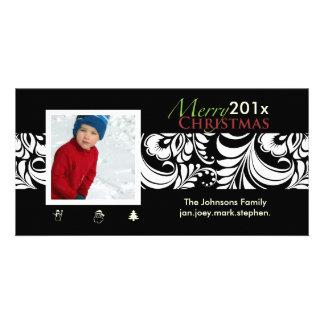 PixDezines Bellissimo Damask, christmas Photo Card