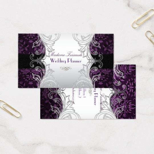 Pixdezines bijoux damask faux silverpurple business card zazzle pixdezines bijoux damask faux silverpurple business card reheart Choice Image