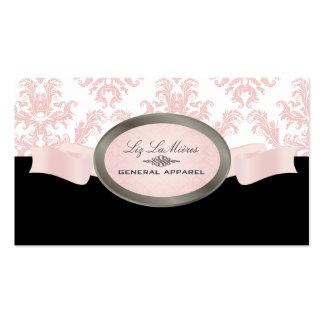 PixDezines Black, Pink, White Céleste Damask Pack Of Standard Business Cards