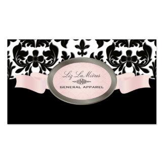 PixDezines Black Velvet Baroque Damask Business Card Template