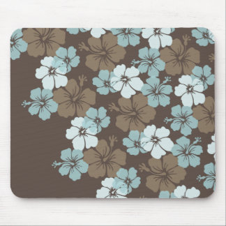 PixDezines blue hibiscus/diy background Mouse Pad