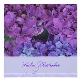 PixDezines Blue Hydrangea 13 Cm X 13 Cm Square Invitation Card