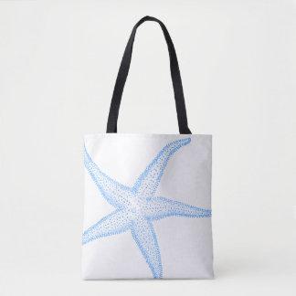 PixDezines Blue Starfish /DIY background color Tote Bag