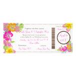 PixDezines Boarding Pass Hibiscus Leis/diy bckgrnd Personalized Invites
