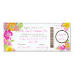 PixDezines Boarding Pass Hibiscus Leis/diy bckgrnd 10 Cm X 24 Cm Invitation Card