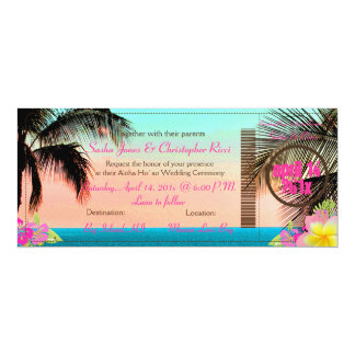 PixDezines Boarding Pass to Paradise Personalized Invitations
