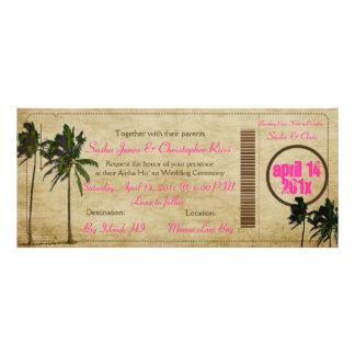 PixDezines Boarding Pass/vintage twin palms Custom Invitations