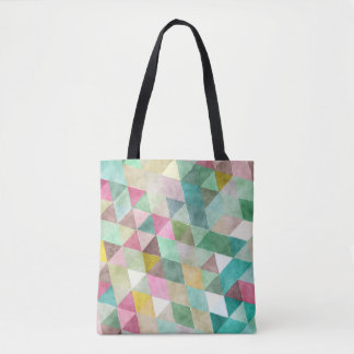 PixDezines Boho Geometric / Triangles Pattern Tote Bag