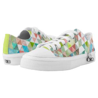 PixDezines Boho Watercolor Geometric/Triangles Printed Shoes