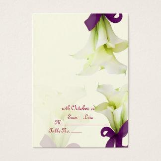 PixDezines bouquet, white calla lilies Business Card
