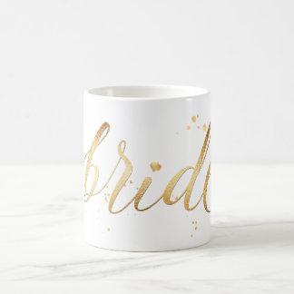 PixDezines Bride/Faux Gold/Modern Script Coffee Mug