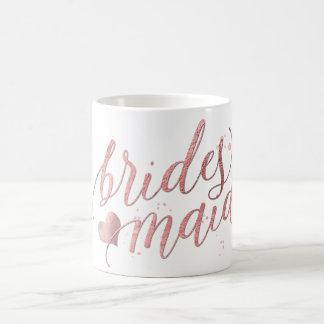 PixDezines Bridesmaid/Faux Rose Gold/Modern Script Coffee Mug