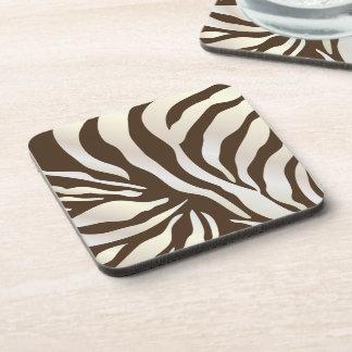 PixDezines Brown Zebra print/DIY colors Coasters
