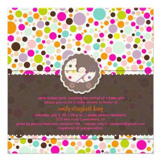 PixDezines bubble gumm/baby shower/DIY background Personalized Invitations