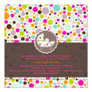 PixDezines bubble gumm/baby shower/DIY background 13 Cm X 13 Cm Square Invitation Card